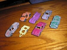 Lot F of 7 Vintage Tootsie Toy Cars Truck Hot Rod Jeep Porsche