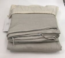 Restoration Hardware Garment-Dyed Linen Duvet Cover Full/Queen Dune New $339