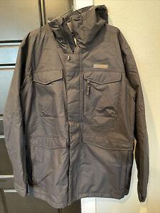 Burton Dry Ride Covert Snowboarding Jacket Size XL DryRide Long Coat Black Hood