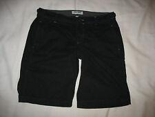 Old Navy Shorts Sz 6 Bermuda Black Casual Flap Pockets Lightweight Cotton Womens