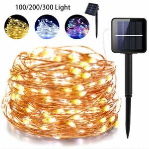 32.8Ft 100 LED énergie solaire fil de cuivre fée chaîne lumière M7S4 6W 10M