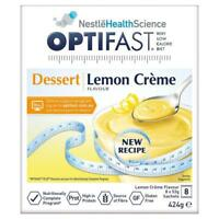 ツ OPTIFAST VLCD LEMON CREME DESSERT 8 X 53G 424G WEIGHT LOSS LOW CALORIE DIET