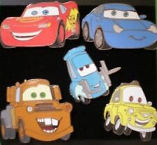 Disney Pin: Disney Store USA - Cars - 5 Pin Set (New On Card)