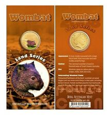 Australia 1 Dollar 2008 Wombat Land Series Colorized Coin