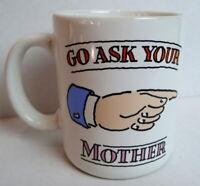 Mother Father Coffee Mug Shoebox Greetings Hallmark Vintage1986