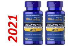 Mélatonine 3mg Somnifères 2 X 240 = 480 Tablette Fabriqué En USA Très Frais Exp