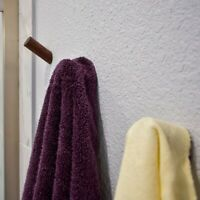 "Sol Walnut Wood 1 7/8"" Long Hook 