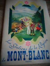 MONT BLANC LES STATIONS DE LA REGION