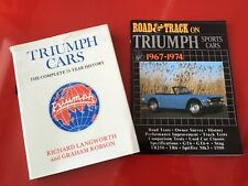 TRIUMPH CARS BOOK RARE COLLECTORS EARLY  EDITION 41 years old
