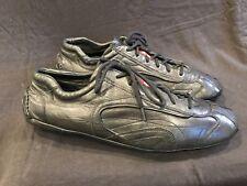 NEW Authentic 4E1165 Prada Black Nappa Leather Drivers Sneakers Sz10.5 US 11.5