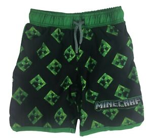Minecraft Mojang Boys Board Shorts Swim Trunks Swimwear Size XL 14/16