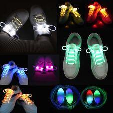 LED Blinken Leuchtend Aufhellen Glühen Gurt Schnürsenkel Schuh Schnürsenkel`