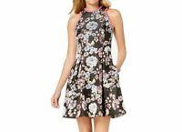 Laundry By Shelli Segal Pom-Pom Trim Floral Women's Dress Size 14