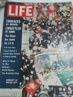 Life Magazine John F Kennedy July 13 1962 Embraced by Mexico City. Embattled JFK