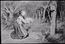 Glass Magic Lantern Slide THE SHRINE IN THE FOREST C1900 ART W Q ORCHARDSON