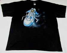 NIKE AIR JORDAN - EMBROIDERED LOGO ON BACK - 3XL - BLACK T-SHIRT- T238