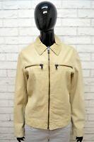 ARMANI JEANS Donna Giacca 100 % Pelle Taglia L Jacket Women's Leather Giubbotto