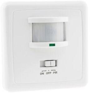 Unterputz PIR-Bewegungsmelder 160° LED geeignet 3-Draht Technik weiß Infrarot