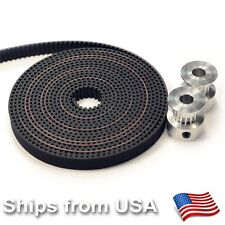 2 x Aluminum GT2 16T Pulley and 2M Belt for RepRap 3D printer Prusa i3 Mendel