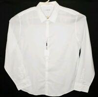 Calvin Klein Men's Size XL Shirt Slim Fit Long Sleeve Button Up White NWT