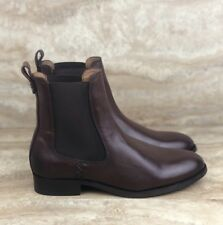 Frye Melissa Leather Chelsea Boots Short Country Brown Womens Multi Size
