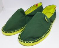 Havaianas Espadrilles UNISEX Green & Yellow Slip On Breathable Canvas Shoes UK5