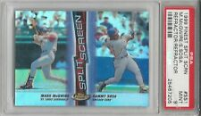 Mark McGwire & Sammy Sosa, 19999 Finest Split SCRN, Both Refractor, PSA MINT 9