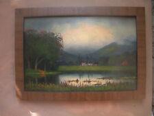 "1932 Oil on Wood Panel,Titled ""Sacramento Valley,Cal"" by James Everett Stuart"