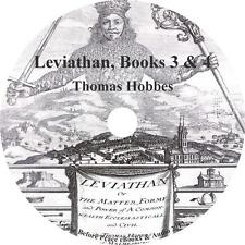 Leviathan, Vols. 3 & 4, Thomas Hobbes Christian Commentary Audiobook on 1 MP3 CD