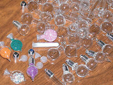 30pc Huge Lot Wholesale small Glass Bottles potion vial charms tiny pendants **~