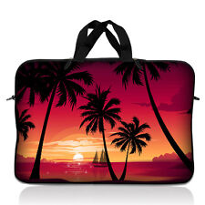 "17"" 17.3"" Laptop Notebook Sleeve Bag Case w Handle Palm Trees Hawaiian 17-SD70"