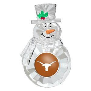 Texas Longhorns NCAA Traditional Snowman Holiday Ornament