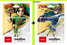 Pre amiibo Zelda Link Majora's Mask & Skyward Sword Nintendo Legend of Toy Japan