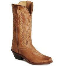 Old West женщины искусственно состаренный желтовато-коричневый cowboy/cowgirl Western ботинки! lf1529 ~ новый в коробке!