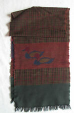 Echarpe 100 % LAINE   made in Italy  foulard vintage scarf
