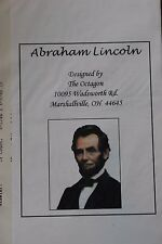 Victorian Lincoln Civil War Mid 19 Century Needlepoint Cross stitch Patterns New