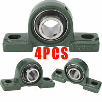 "UCP205-16 Solid Base Pillow Block Bearing 1""in Bore Self Aligning 2 Bolt (4 PCS)"