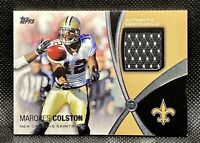🔥2012 Topps Marques Colston Prolific Playmakers #PPR-MC Relic GU Jersey Saints