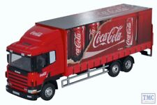 76S94004CC Oxford Diecast OO Scania 94D 6 Wheel Curtainside Coca Cola