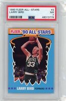 1990 Fleer All-Stars 2 Larry Bird PSA 7 Boston Celtics Graded Basketball Card
