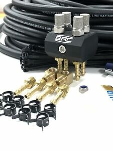 STEALTH - QUAD High Temp diff and gearbox breather kit. Universal. MATT BLACK