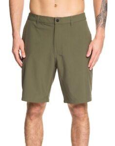 Quiksilver Mens Swimwear Green Size 32 Backwater Amphibian Board Shorts $60 121