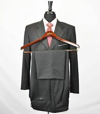 Givenchy 2pc Business Suit Black Pinstripe Size 36 R Fantastic!