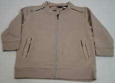 BURBERRY Baby Boy Beige 100% Cotone Zip Frontale Giacca a Maniche Lunghe Casual Top 2Y