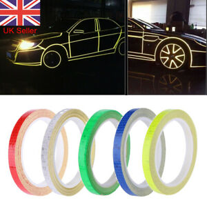 8M Reflective Tape Safety Stickers Hi Vis Safety Warning Self-Adhesive Reflector