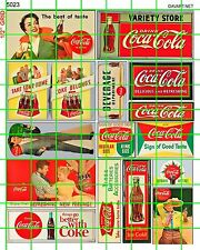 5023 DAVE'S DECALS HO SCALE ASSORTED OLD SODA POP STORE ADVERTISING BILLBOARD