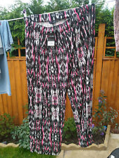 Yours Clothing Womens Plus Size Black / pink Pyjama Bottoms 24