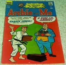 Archie and Me 22, Fn (6.0) 1968 Karate cover! 40% off Guide!