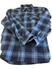 ICEBREAKER Merino Wool Plaid Shirt Size XL Men's Blue Checked Long Sleeve Top