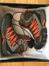 POLO RALPH LAUREN RLX CANTERWOOD BROWN ORANGE GORETEX HIKING TRAIL BOOTS 10D BOX
